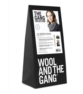 Wool And The Gang 'Lil Snood Dogg Knit Kit-Tweed Gray