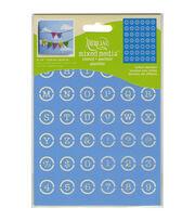 DecoArt Button Alphabet Decor Stencil 6''x8'', , hi-res