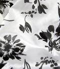 All That Glitters Ombre Flocked Taffeta-Black On White
