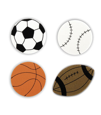 Foamies Play Ball Themed Foam Stickers