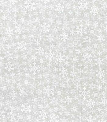 "Holiday Cotton Fabric 43""-Tonal Flakes"