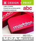 Momenta Design & Print 392 pk 1.25\u0027\u0027 Label Stickers-Lower Case Alphabet
