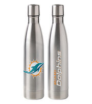 Miami Dolphins 18 oz Insulated Stainless Steel Water Bottle, , hi-res