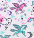 Anti-Pill Fleece Fabric 59\u0022-Unicorns And Rainbows
