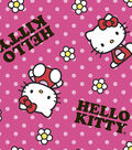 Sanrio Hello Kitty Fleece Fabric 58\u0022-Flower Toss