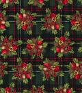 Keepsake Calico™ Holiday Cotton Fabric 44\u0022-Berries and Bells on Plaid