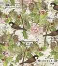 Susan Winget Cotton Print Fabric 43\u0027\u0027-Chickadee & Pines