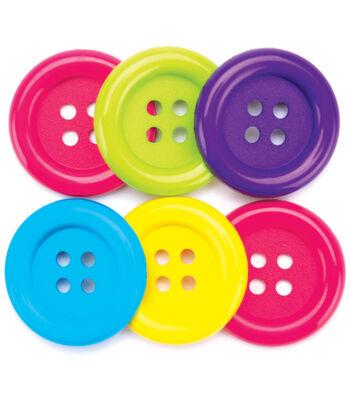 Favorite Findings Big Basic Buttons-Fun 6/Pkg