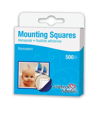 "Scrapbook Adhesives 1/2""x1/2"" Permanent Mounting Squares-500PK/White"
