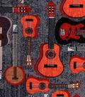 Snuggle Flannel Fabric 42\u0022-Natural Guitar