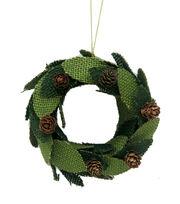 Maker's Holiday Christmas Handmade Holiday Burlap Wreath Ornament-Green, , hi-res
