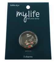 hildie & jo™ My Life 5 Pack Garden Silver Locket Charms, , hi-res