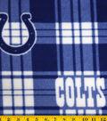 Indianapolis Colts Fleece Fabric 58\u0022-Plaid