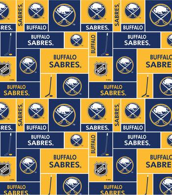 """Buffalo Sabres Cotton Fabric 43""""-Block"""