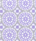 Nursery Cotton Fabric 43\u0022-Lilac Medallion