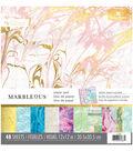 Paper House® Marbelous Pack of 48 12\u0027\u0027x12\u0027\u0027 Paper Pad