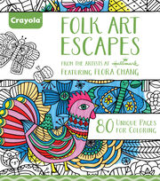 Crayola Folk Art Escapes Coloring Book, , hi-res