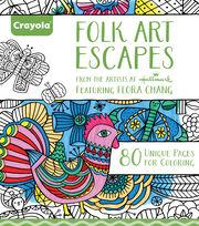 Crayola Folk Art Escapes Coloring Book, , hi-res