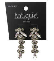 hildie & jo™ Antiquist Gold Drop Earrings-Rhinestones, , hi-res