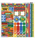 Reminisce Block Party Cardstock Multi Stickers