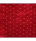Sew Sweet Velvet Pin Dot Fabric 58\u0022-Burgundy