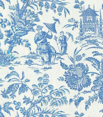 "P/K Lifestyles Print Fabric 54""-Asian Arcadia/Sapphire"