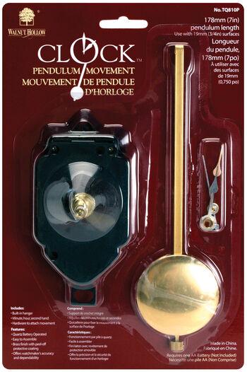 "Pendulum Clock Movement 7""-For 3/4"" Surfaces"