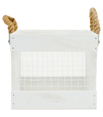 Hampton Art Wood & Chickenwire Mixed Crate