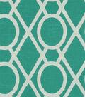 Robert Allen @ Home Print Fabric 55\u0022-Lattice Bamboo Pool
