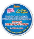 Darice 3.65\u0022 Design A Button Clear Plastic Buttons-6PK