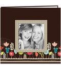 Pioneer Designer Printed Raised Frame Garden Post Bound Album 8\u0027\u0027x8\u0027\u0027