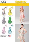 Simplicity Pattern 1456K5 7-8-10-12--Child Girl Dresses