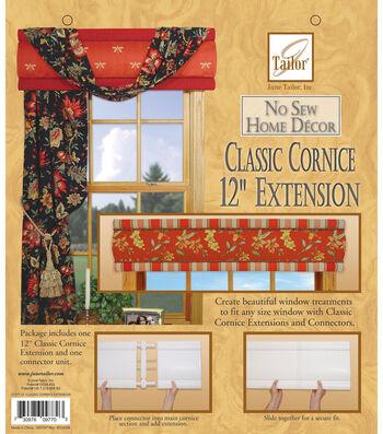 June Tailor No Sew Home Decor-Classic Cornice Extension
