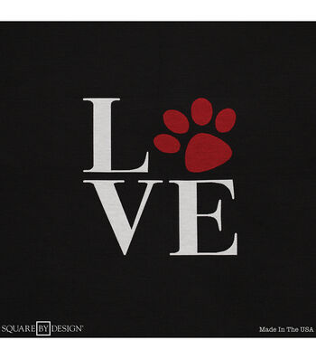 """Square By Design Woven Fabric 25""""-Love Paw"""