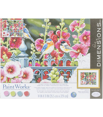 Dimensions® Paint Works Paint By Number Kit-Hollyhock Gate