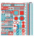 Reminisce Wacky & Wild Multi Cardstock Stickers