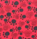 Blizzard Fleece Fabric 59\u0027\u0027-Paw Prints on Red