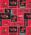 Illinois State University Redbirds Fleece Fabric 58\u0022-Block