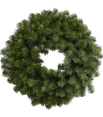 Blooming Holiday Christmas 24'' PVC Canadian Pine Wreath