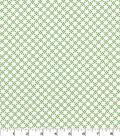 Quilter\u0027s Showcase Cotton Fabric 44\u0027\u0027-Kiwi Linked Floral on White