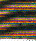 Keepsake Calico™ Cotton Fabric 43\u0022-Black Stripe