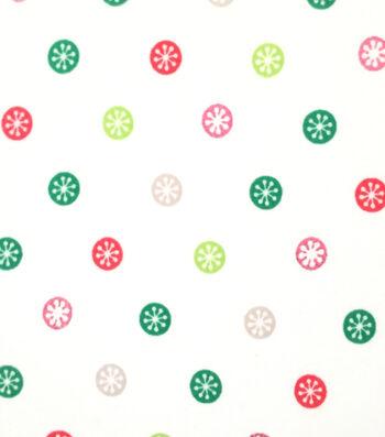 "Doodles Christmas Interlock Cotton Fabric 57""-Snowflake Sticker"