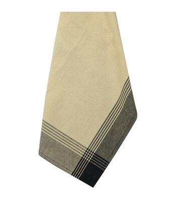 Dunroven House McLeod Tea Dyed Towel Stripes Black