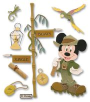 Disney Dimensional Vacation Stickers-Jungle Mickey, , hi-res