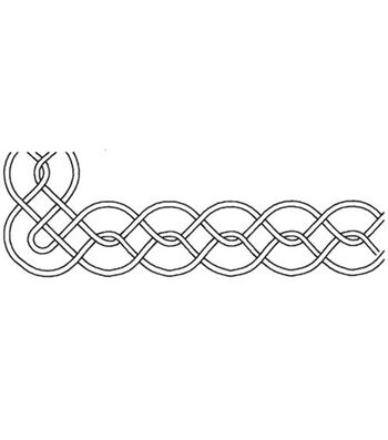 "Sten Source Quilt Stencils By Pepper Cory-3"" Border 6""X18"""