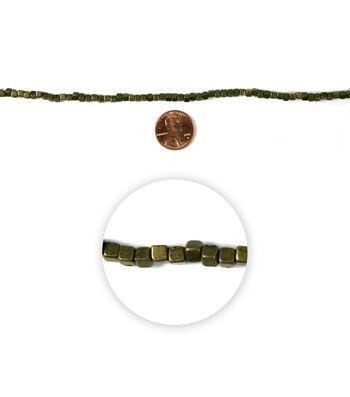 Blue Moon Strung Metal Beads,Cube,Oxidized Brass