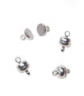 Darice 7mm Magnetic Clasps-3 clasps /Silver