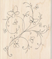 Inkadinkado Butterfly Flourish Wood Mounted Stamp, , hi-res