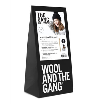 Wool And The Gang Happy Daze Beanie Knit Kit-Space Black
