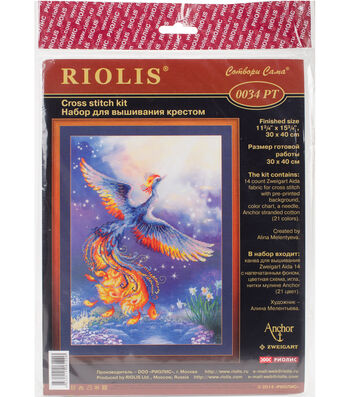 """Bird Of Happiness Stamped Cross Stitch Kit-11.7""""X15.7"""" 14 Count"""